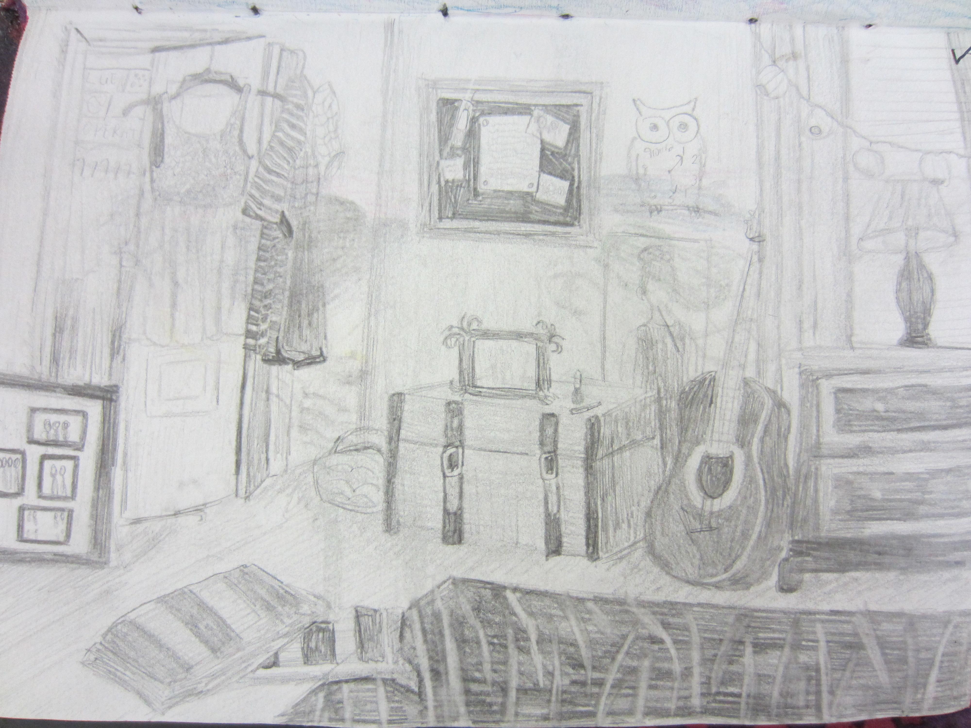 Simple Bedroom Drawing